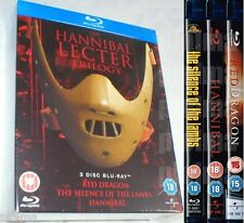 THE HANNIBAL LECTER TRILOGY NEW BLU-RAY BOX SET Silence of the Lambs Red Dragon