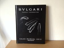 Used - BVLGARI Sales Manual 2012 Manual de ventas- WATCHES ACCESSORIS - Usado