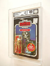 VINTAGE STAR WARS AFA 80+ (80/85/85) 1982 ESB DEATH STAR DROID 47BACK MOC