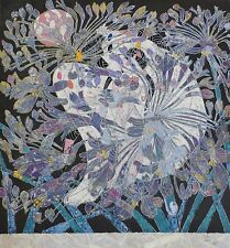 Tie Feng Jiang FLOWER RADIANT VIOLET HAND SIGNED Yunnan Chinese Artist 铁丰机盎