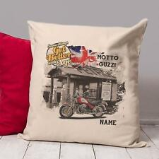 Personalised  Moto Guzzi  Motorcycle Vintage Cushion  Cover Gift