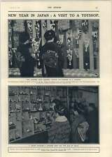 1918 Visit To A Toyshop New Year In Japan Dolls Battledores