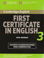 Cambridge FIRST CERTIFICATE IN ENGLISH 3 FCE w Answers | ESOL Examination @NEW@