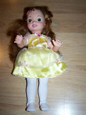 "Disney Beauty and the Beast Princess Belle Vinyl Doll 14"" 2004 Playmates EUC"