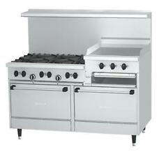 "Garland Sunfire 60"" Gas Restaurant Range 24"" Raised Griddle 6 Burner - X60-6R24R"