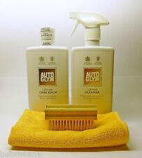 "Autoglym Leather Cleaner & Care Balm ""KIT"" with Brush and Microfibre Cloth"