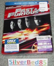 Lot 3 STEELBOOK FAST And & The FURIOUS F Five Tokyo Drift Blu-ray/Dvd/UV 3 4 5