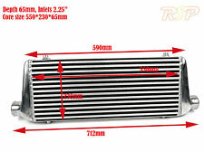 "Universal Medium/Large Front Mount Alloy Intercooler 550x230x65mm 2.25"" Inlets"