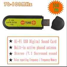 300m 76~108MHz HIFI Digital USB Sound Card 7.1CH FM Transmitter usbFM-DST88-300