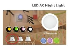 LED Night Light with Day/Night Auto Sensor UK Mains Wall Plug for Babies Bedroom