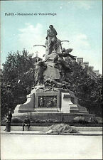 Paris France CPA ~1914-18 Partie am Monument de Victor Hugo Denkmal ungelaufen
