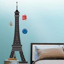 BLACK EIFFEL TOWER Wall Decals Art PARIS Room Decor Decorations Stickers Snap