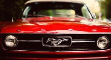 Ford Mustang Red Muscle Car SILK POSTER 24x43