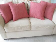 "NEW Baker Furniture Set of 4 Throw Accent Pillows for Sofa - Salmon - 20"" x 20"""