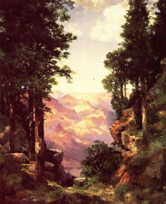 No framed artwork Oil painting Thomas Moran - Grand Canyon in summer landscape