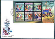 GUINEA 2012 SPORTS BIKING CHAMPIONS SHEET OF SIX STAMPS FDC