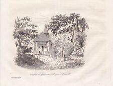 Chapelle de Guillaume Tell Küssnacht Suisse STAHLSTICH von 1835 Tellkapelle