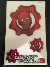 Official Gears Of War 3 (GOW) Console Stickers For Xbox 360 - Cheap