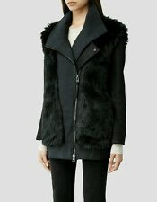 Bnwt allsaints ANAIA Biker jacket.coat.teal.uk 10 (10-12) £395.faux fur.**OFFER*