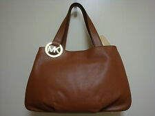 NEW MICHAEL KORS FULTON E/W LUGGAGE BROWN LEATHER PURSE OR TOTE