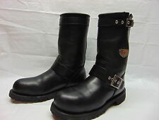 Red Wing 988 Motorcycle Men's 7.5 Steel Toe Engineer Black Leather Harness Boots