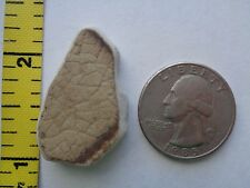 GENUINE BEACH SEA GLASS POTTERY BROWN SURF TUMBLED OCEAN WELL FROSTED RARE L5