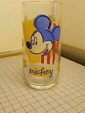 Mickey Mouse Stars and Strips Glass Tumbler Vintage