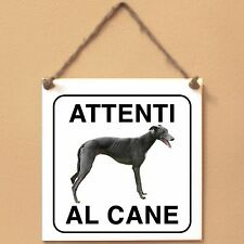 Greyhound 3 Attenti al cane Targa cane cartello ceramic tiles