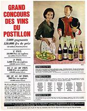 PUBLICITE ADVERTISING  1964   POSTILLON  vins
