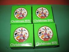 """4""SCHMID limited edition DISNEY 1975 Christmas Balls New in Box 2ND IN Series"