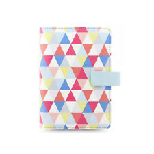 Filofax Geometric Personal Organiser Planner Notebook Diary Leather
