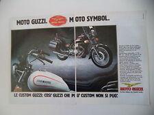 advertising Pubblicità 1985 MOTO GUZZI V65 V 65 C CUSTOM