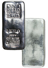 Republic Metals Corporation 1 Kilo (32.15 Oz) .999 Fine Silver Bar SKU36868