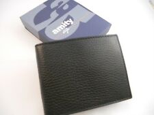 Amity Coin Billfold Leather Wallet,Black Style 5644