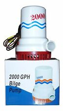 NEW  2000 GPH  Marine Bilge Pump 12 Volt 4 year Warranty