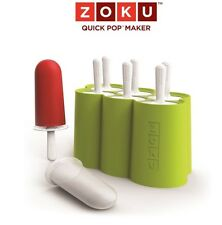 Zoku Classic Pop Molds 6 With Drip Guards Popsicle Maker New In Box Top Rated