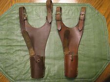 2 VNTG WW1 WW2 GERMAN ARGENTINE MAUSER A3 1940 LEATHER BAYONETTE FROGS HOLSTERS*