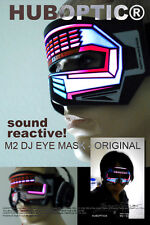 Rave Mask M2 Eye Mask- Light Up Mask LED Mask for EDM Costume Robot Mask Sci Bot