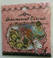 San-x Sentimental Circus Kawaii Sticker Sack stickers flakes pink
