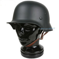 COLLECTABLE WWII GERMAN M35 STEEL HELMET WITH LINING BLACK COLOR