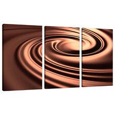 Juego De 3 Sepia marrón tela pared arte Fotos Salón Impresiones 3061