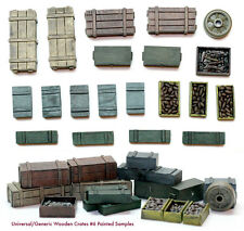 1/35 Scale resin kit Wooden Crates Set #6 Diorama accessories