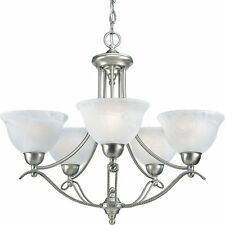 Avalon Collection Brushed Nickel Hanging Chandelier Light Kitchen Hall P4068-09