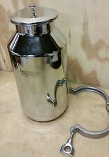 EAGLE STAINLESS STEEL 5 Liter BOTTLE BTB-16 with CAP & CLAMP container bottle