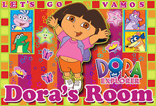 025 DORA THE EXPLORER COLORFUL PERSONALIZED CUSTOMIZED DOOR ROOM POSTER
