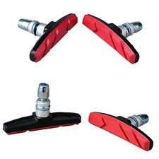Striking Mountain Bike Road Cycling Rubber V Brake Holder Shoes Rubber Pads Red