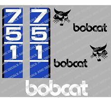 Bobcat 751 Skid Steer Decalcomania Sticker Set