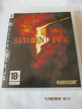 Resident evil 5 Playstation 3 PS3 sans sa notice