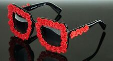 NEW Genuine Dolce & Gabbana Black Frame w/ Red Flowers Sunglasses DG4253 501/8G