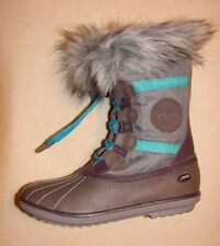 """Fab Jump GTX""Clark's Girl's Grey Leather Boots size 12 F."